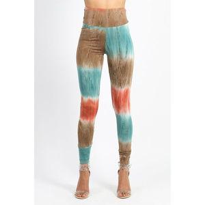 Daisy Women's Stretchy Tie Dye Print Leggings